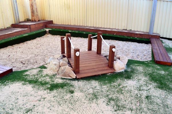 LLS Chatswood Timber bridge sandpit