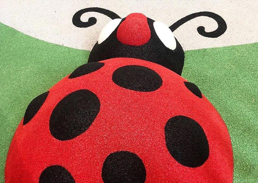 wet pour rubber ladybeetle